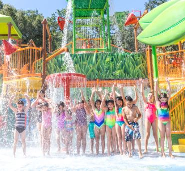 Kids at waterpark